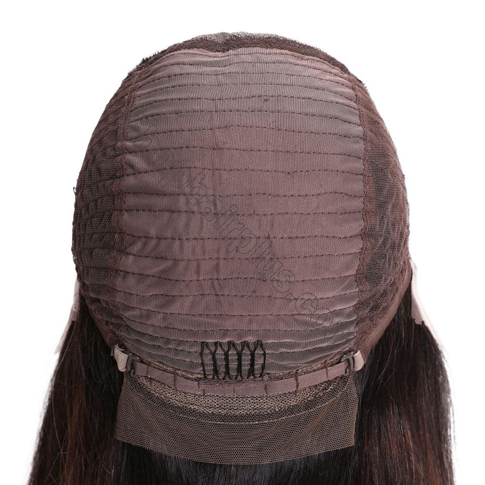9A Glueless Ombre Color Long Silky Straight Lace Frontal Wigs High Density Remy Hair Lace Wigs For Women T4/27 Color 6