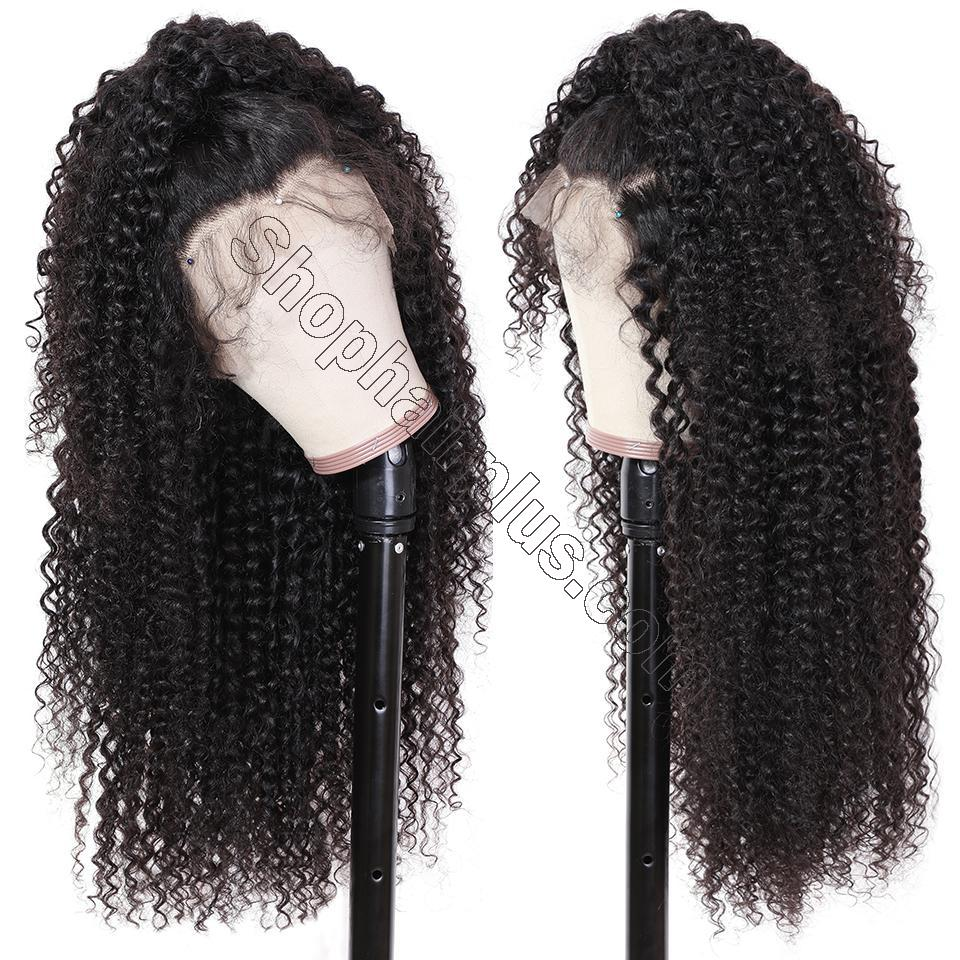 9A Grade 13*4 /13*6/360 Lace Front Jerry Curly Human Hair Wig on Sale , 180%/150 Densit 7