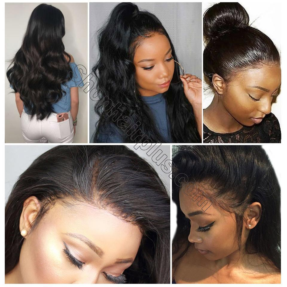 9A Grade 13*4/13*6/360 Lace Front Body Wave Human Hair Wig 180%/150% Densit 9