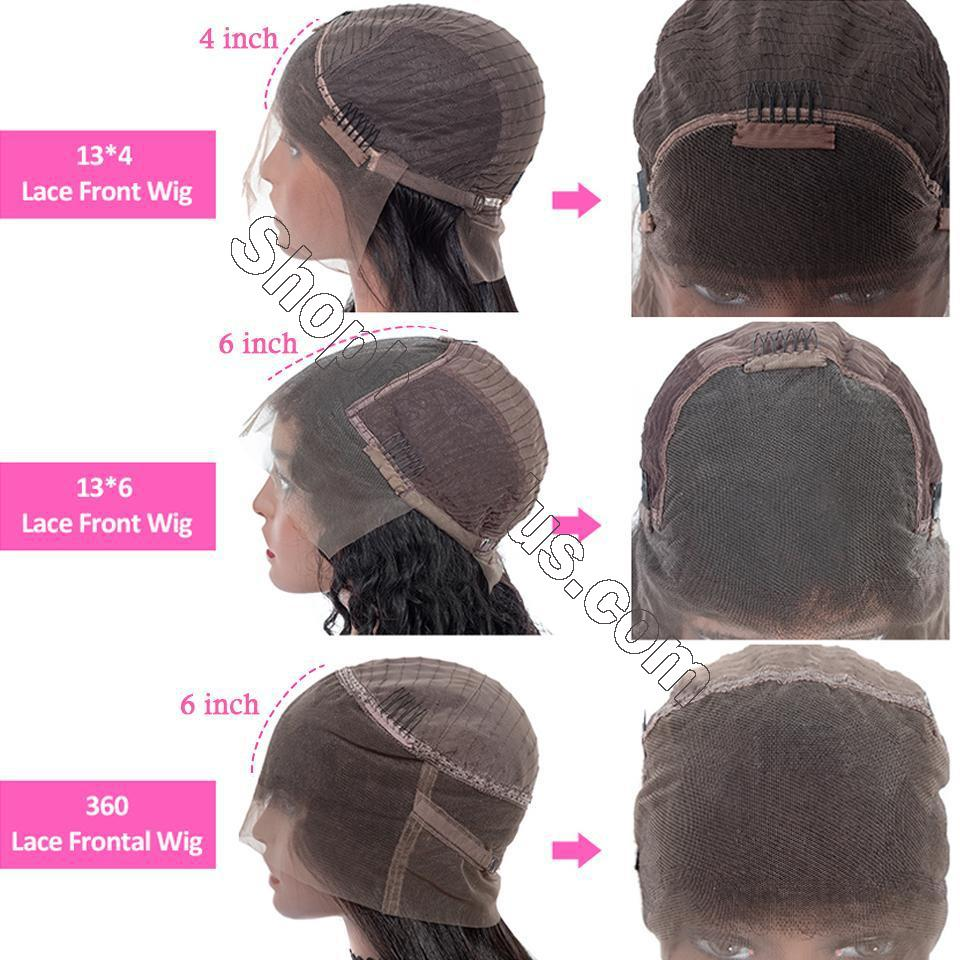 9A Grade 13*4/13*6/360 Lace Front Silky Straight Human Hair Wig, 180%/150% Densit 3