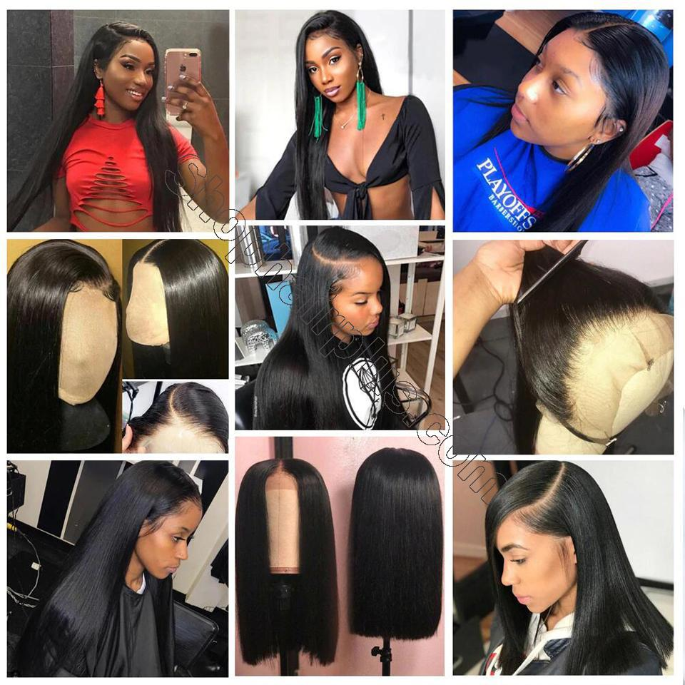 9A Grade 13*4/13*6/360 Lace Front Silky Straight Human Hair Wig, 180%/150% Densit 7