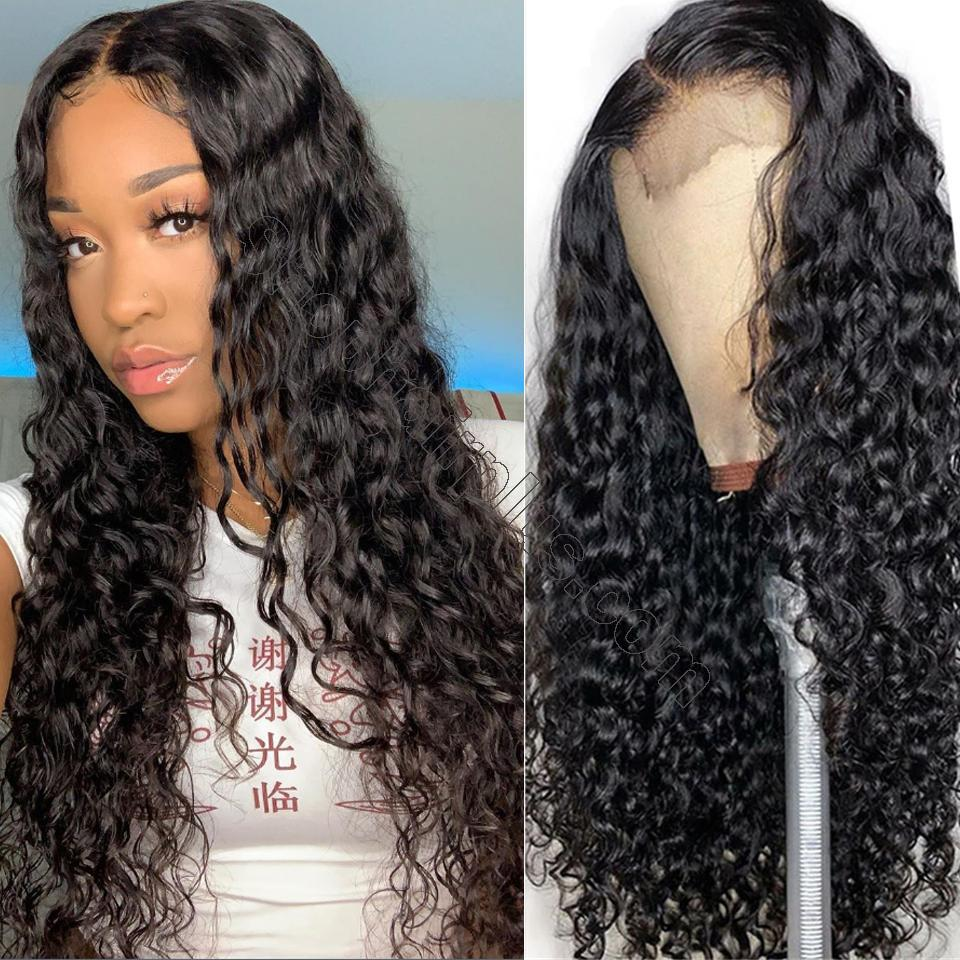 9A Grade Water Wave 13*6 Lace Front Human Hair Wig, 150% Densit 2