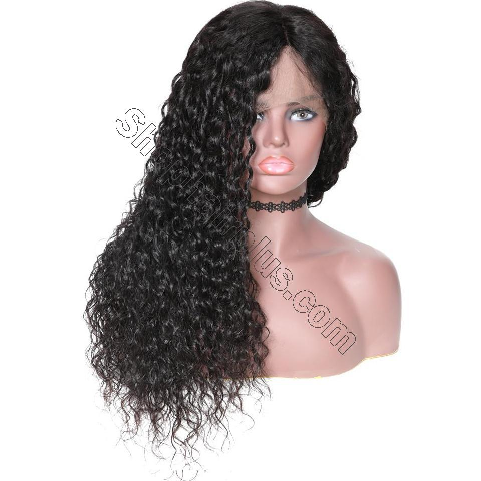 9A Grade Water Wave 13*6 Lace Front Human Hair Wig, 150% Densit 5