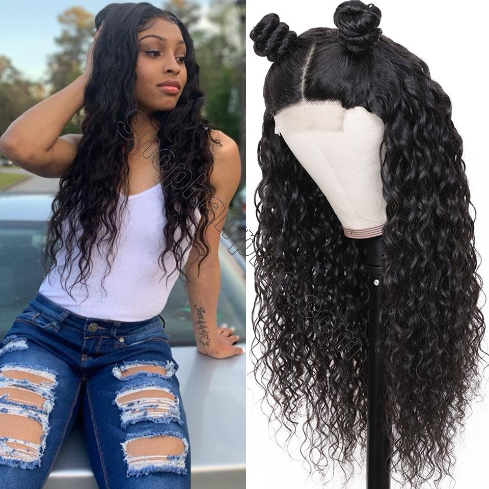 9A Grade Water Wave 13*6 Lace Front Human Hair Wig, 150% Densit 10