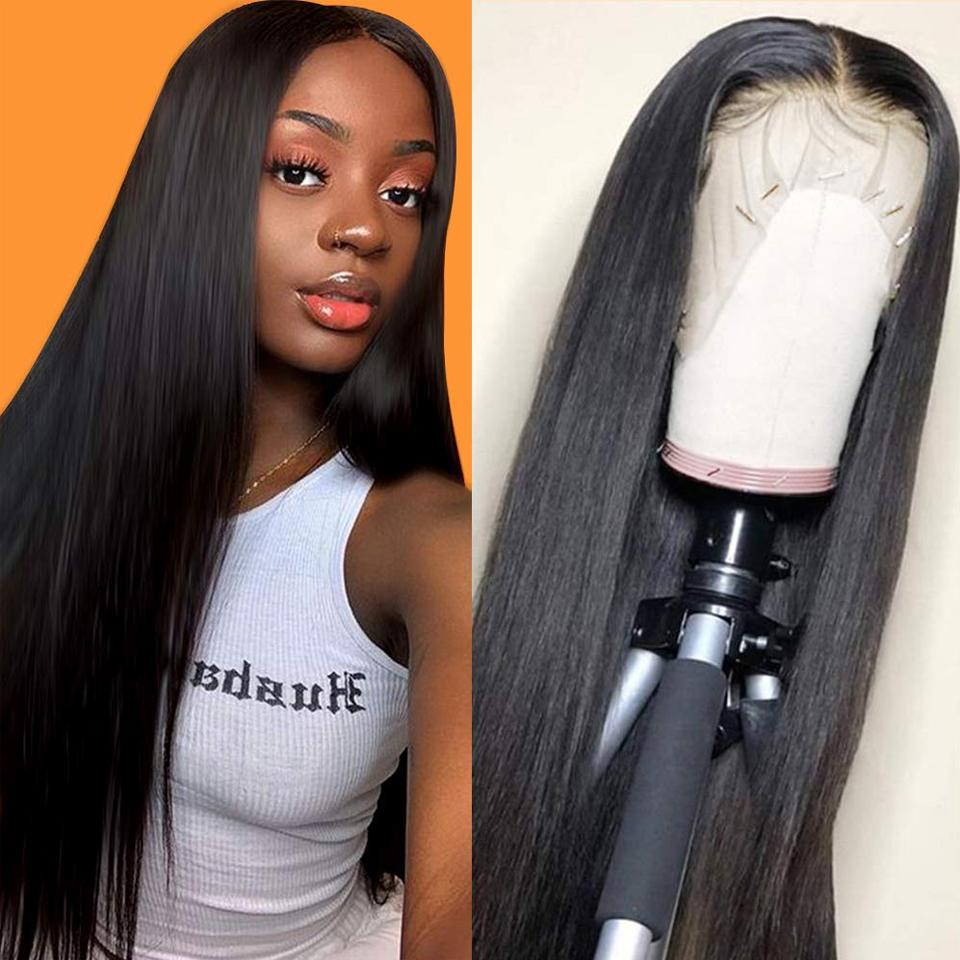 9A Invisible Lace Straight Hair Human Hair Wigs 150%/180% Density Lace Front Wigs Pre Plucked 13