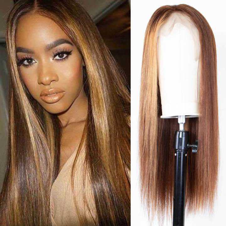 9A Ombre Color Straight Hair Lace Front Wigs With Baby Hair 150% Density TL412 Human Hair Wigs 8
