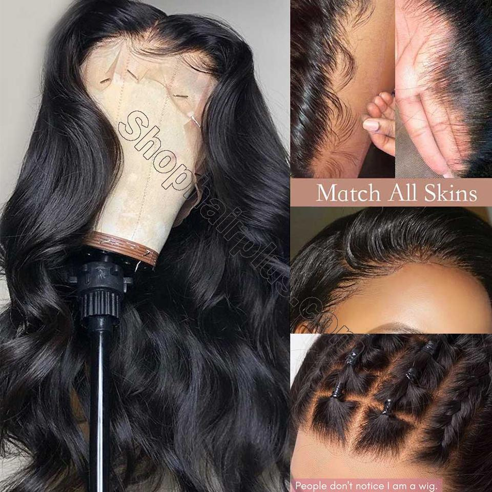 9A Transparent Lace Wig Body Wave Lace Frontal Wigs Virgin Human Hair Pre Plucked 5