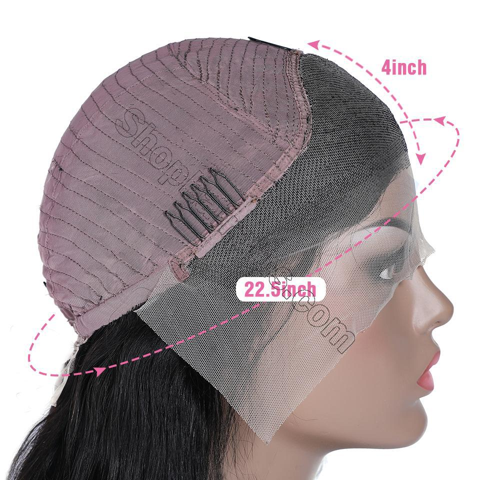 9A Transparent Lace Wig Body Wave Lace Frontal Wigs Virgin Human Hair Pre Plucked 8