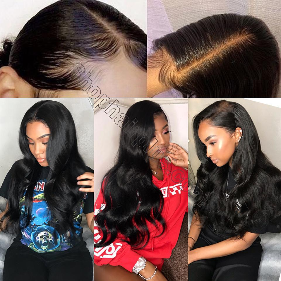 9A Transparent Lace Wig Body Wave Lace Frontal Wigs Virgin Human Hair Pre Plucked 10