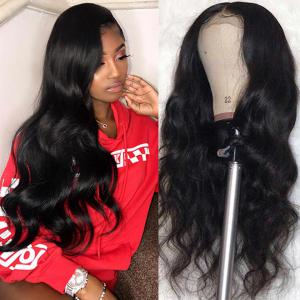 9A Transparent Lace Wig Body Wave Lace Frontal Wigs Virgin Human Hair Pre Plucked
