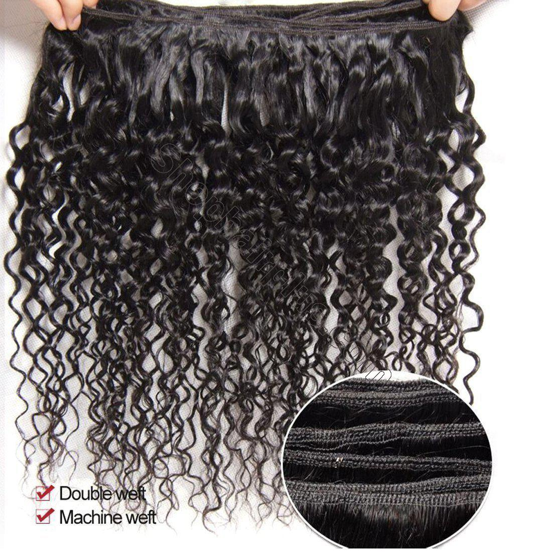 Brazilian Curly Hair 13x4 Lace Frontal With Bundles 3Pcs/Pack 9