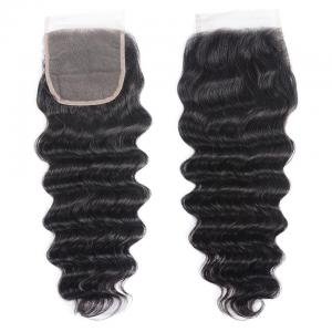 Brazilian Loose Deep Wave Lace Closure 4*4 Swiss Lace Free Part