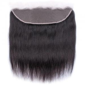 Brazilian Straight Hair Frontal Closure 13*4 Transparent Swiss Lace Frontal Ear to Ear Closure Natural Black