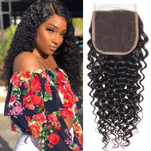 Brazilian Virgin Curly Hair 4x4 Lace Closure