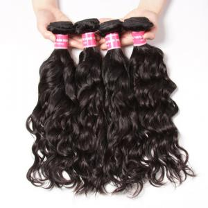 Indian Virgin Hair Natural Wave 4 Bundles 100% Human Hair Weaves Deals
