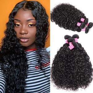 Loose Water Wave 4 Bundles 8A Brazilian Virgin Hair Weave Good Volume