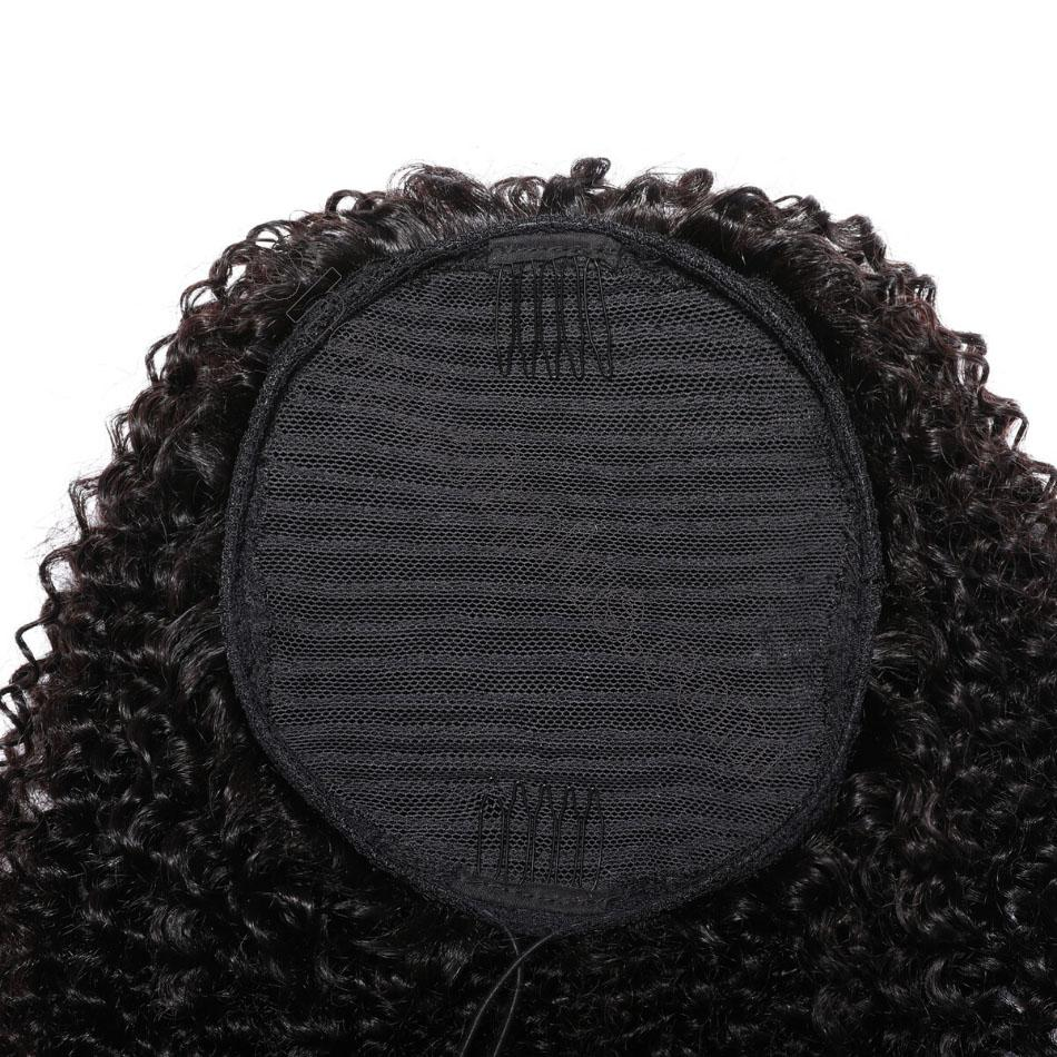 nky Curly Drawstring Ponytail Clip In Hair Extensions Brazilian Virgin Hair Afro Puff 8