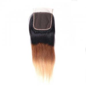 Ombré  T1B/4/27 Human Hair Lace Closure 4*4 Straight Hair Closure