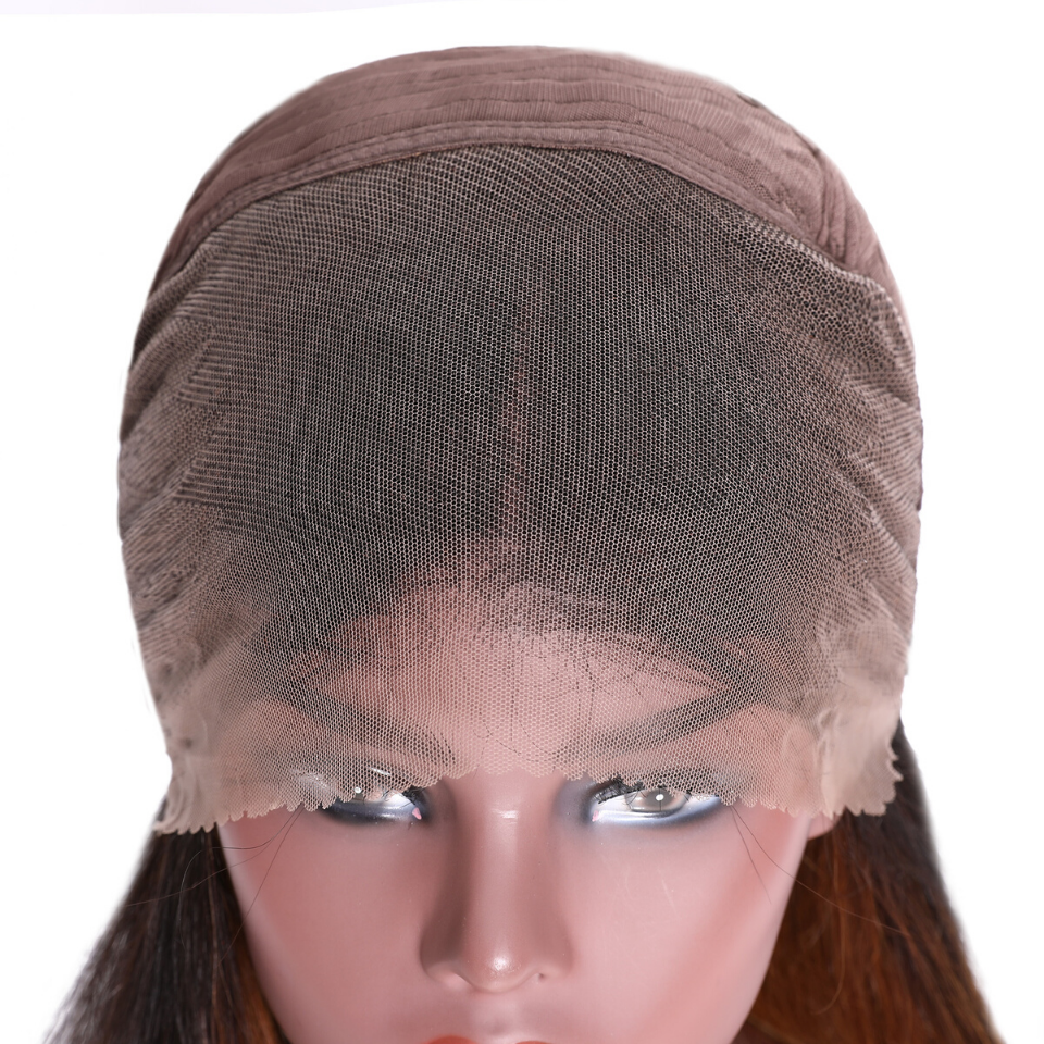 Ombre Color Curly Bob Human Hair Wigs Preplucked Short Curly Lace Front Wigs With Baby Hair 7