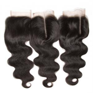 Peruvian Body Wave Lace Closure Human Virgin Hair Natural Color