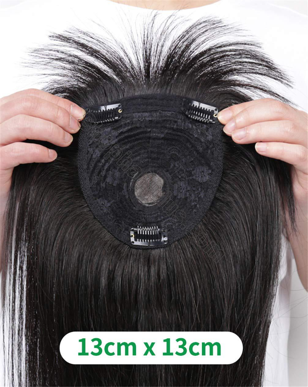 Women's Hair Topper with Bangs for Thinning Hair Clip in Real Human Hair Toupee Hairpieces 2