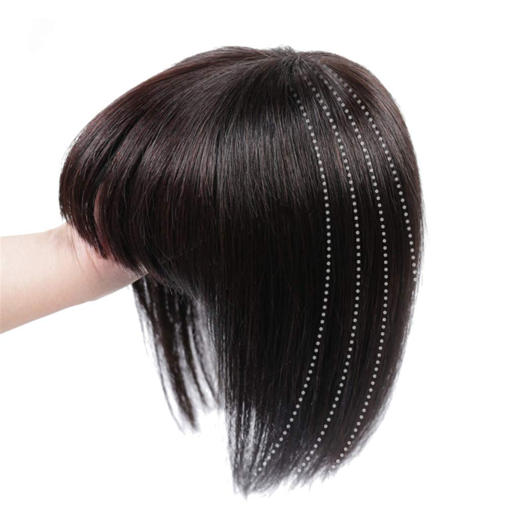 Women's Hair Topper with Bangs for Thinning Hair Clip in Real Human Hair Toupee Hairpieces 6