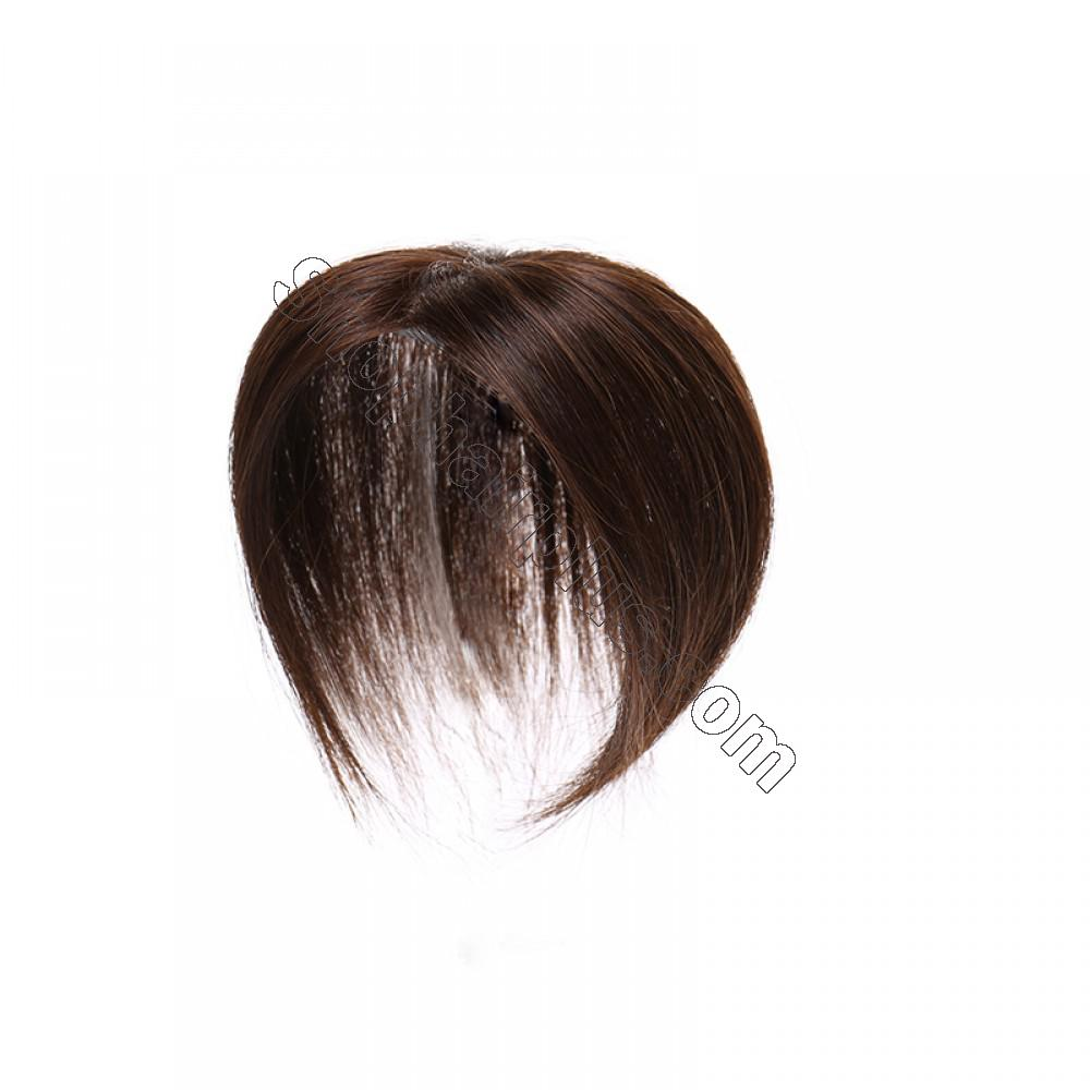 Women's Human Hair Toppers For Hair Loss or Thinning Hair #4 Medium Brown 4